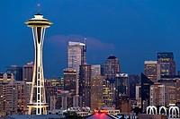 Seattle at Night, Washington, USA