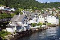 sea front houses at Norheimsund, Western Norway