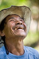 Mayan man laughing