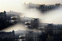 The Sacre-Coeur Basilica on Montmartre hill, Paris, France.