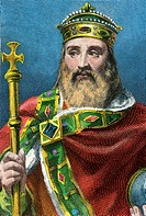 CHARLEMAGNE 742-814, king of France surnamed ´The Great´ and Emperor of Occident