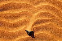Rock in the sand, Sahara Desert, Libya