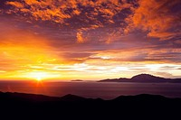 Sunrise over the Strait of Gibraltar