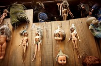 Dolls hang on a tree on the Island of the Dolls in Xochimilco, southern Mexico City. The late Don Julian turned his ´chinampa, ´ a small artificial is...