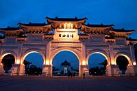 Asia, Taiwan, Taipei, Chiang Kai Shek memorial hall