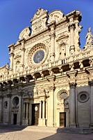 Basilica di Santa Croce Basilica of the Holy Cross, Lecce, Puglia, Italy