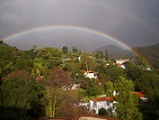 Double rainbow. Los Angeles County, California. United States.