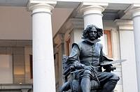 Monument to Velazquez in front of Prado Museum, Madrid, Spain