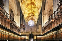 Choir of Santa Maria de la Sede Cathedral, Seville, Spain