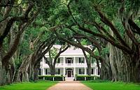 Rosedown plantation antebellum mansion house near the town of Francisville, Louisiana, USA