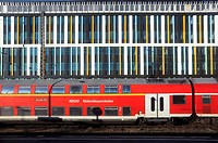 Train abstract - seen at Munich train station, Germany
