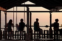 Bar, Sunset Beach, Peroulades, Corfu, Greece