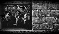 Grafitti in stone wall