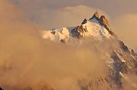 Cumbre de la Aiguille du Midi 3800 m, región del Mont Blanc, Alpes franceses