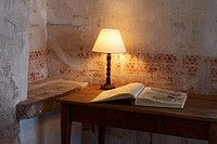 Table with Lamp and Book  Girona  Spain