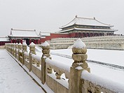 The Forbidden City in Winter.