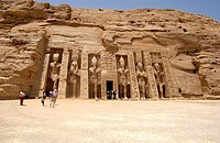 Nefertari's temple of Hathor in Abu Simbel,West Bank of Lake Nasser, Southern Egypt