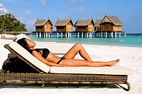 Indian Ocean, Maldives, Alifu Dhaalu Atoll, Constance Moofushi Resort