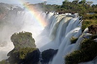 Iguazu Falls with rainbow, Iguazu National Park, Argentina