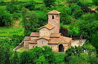 Santa María de Lebeña mozarabic church,10th century. Lebeña. Liébana valley. Cantabria. Spain