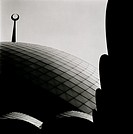 The contemporary Sakirin Mosque in Karaca Ahmet Cemetery in Uskudar in Istanbul in Turkey in the Middle East