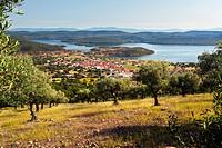 Helechosa de los Montes and the Cijara reservoir  Badajoz  Extremadura  Spain