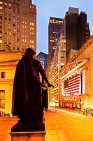New York Stock Exchange George Washington Statue