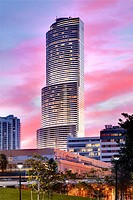 Miami tower at dusk