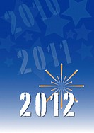 Background with space for text and pictures  Theme: New Year 2012