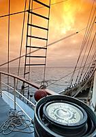 Storm in the English Channel from ship compass, English Channel, United Kingdom, Europe,