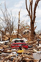 Cars lay buried in rubble in what remains of a residential area in Joplin, Missouri, May 25, 2011  On May 22, 2011, Joplin Missouri was devastated by ...