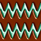 Dark chocolate and mint zigzag tiling background texture pattern