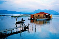 Mesologi lagoon Greece