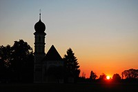 Sunset at a chapel