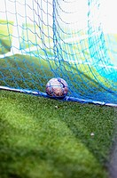 Soccer ball into a goal in soccer 11