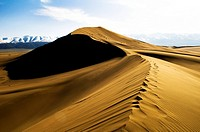Beautiful sand dune in Gobi desert in China