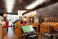The printing workshop inside the Gutenberg museum in Mainz, Germany, Europe
