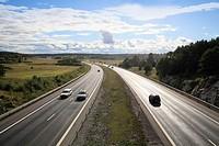 E4 Road Trosa Sweden.