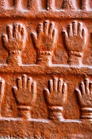 Sati handprints at Meherangarh Fort, Jodhpur, Rajasthan, India