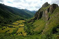 Peña Furada in the Sousas river valley, Somiedo Natural Park, Asturias, Spain