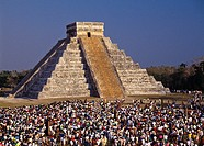 The Sun Serpent  The Kukulkán Pyramid  Chichén-Itzá  The Temple of Kukulkan, the Feathered Serpent God also known as Quetzalcoatl to the Toltecs and A...