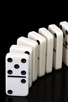 Dominoes ready to topple