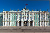 Russia, Saint Petersburg, Center, Dvotsovaya Square, Winter Palace and Hermitage Museum