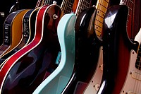 Group of guitars