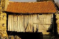Old traditional house at Castro Laboreiro, Peneda Geres National Park, Melgaco, Braga, Minho, Portugal