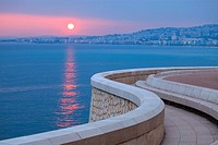 Sunset above the sea, Nice, Alpes-Maritimes, French Riviera, Provence-Alpes-Côte d´Azur, France