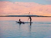 Romantic sunset, Dead Sea ,Israel