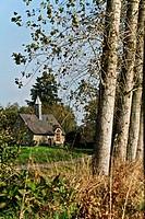 Chapel on the way, Quelneuc. Ploermel, broceliande, Morbihan, Brittany, France