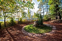 tomb of Merlin in the forest of paimpont, Arthurian legend, Knights of the Round Table, broceliande, Morbihan, Brittany, France