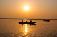 Sun rise from over the Ganges